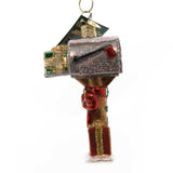 Old World Christmas Welcome Home Mailbox Glass Ornament