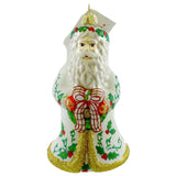 Holiday Ornament Holly Santa Glass Ornament - Story Book Kids