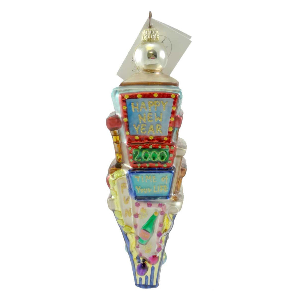 Christopher Radko Times Square/ Count Down Glass Ornament