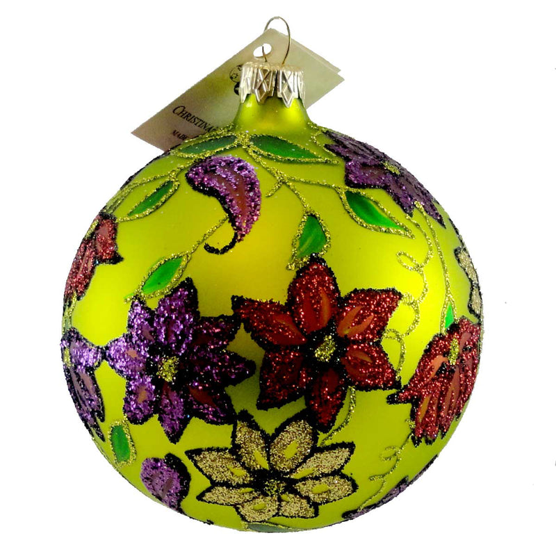 Christina's World Floral Tapestry Glass Ornament