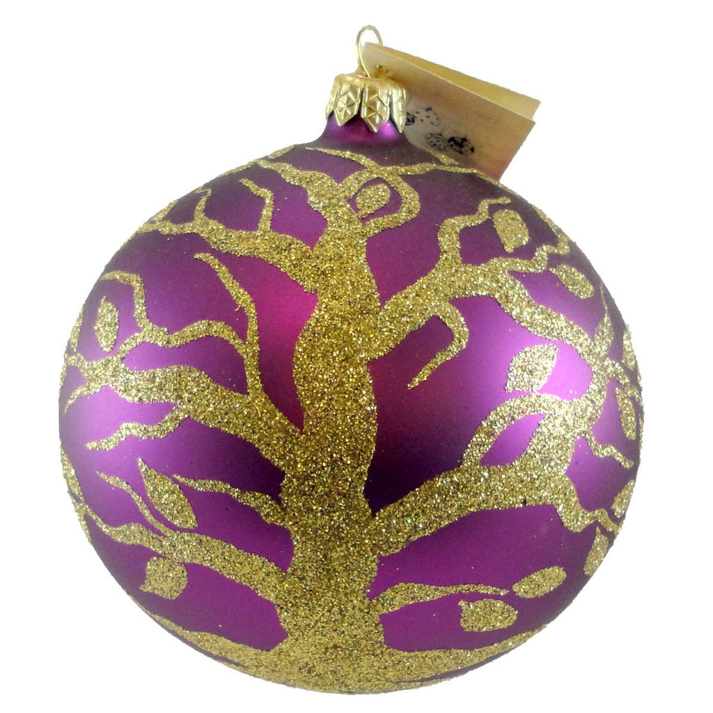 Christina's World Golden Tree Of Life Glass Ornament
