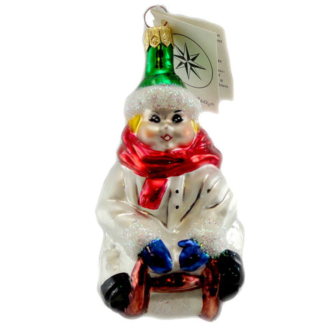 Christopher Radko Here I Go Glass Ornament 1189