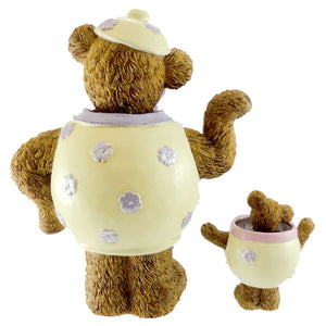 Boyds Bears Resin Mrs. Stout With Lil' Steamy Figurine