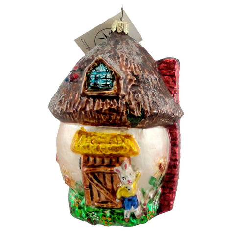 Christopher Radko SHROOM WITH A VIEW Glass Ornament Hut Rabbit House 1213