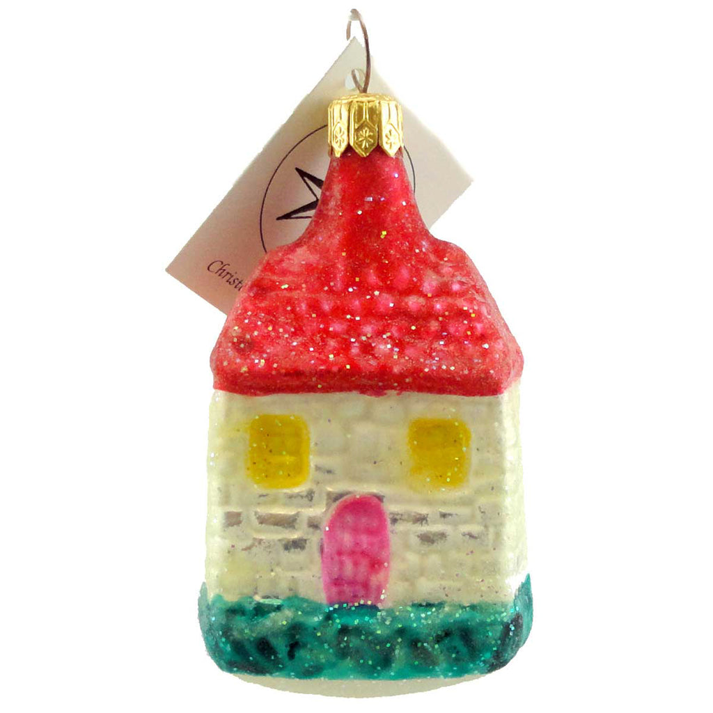 Christopher Radko Snow Castle Glass Ornament