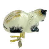 Holiday Ornament Kitty Clip- Multi Glass Ornament