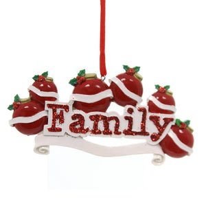 Personalized Ornaments FAMILY ORNAMENT- 6 Resin   Six Names OR597-6