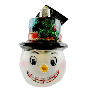 Old World Christmas Vintage Snowman Glass Ornament