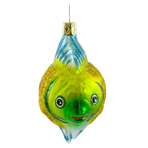 Inge Glas Angel Fish Glass Ornament 12833
