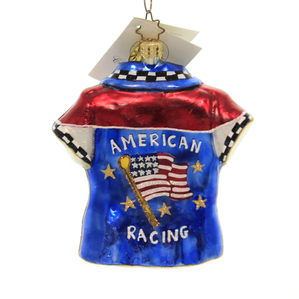 Christopher Radko American Racer Glass Ornament