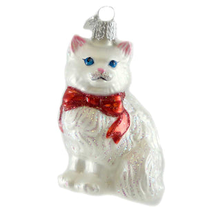 Old World Christmas Princess Kitty Glass Ornament