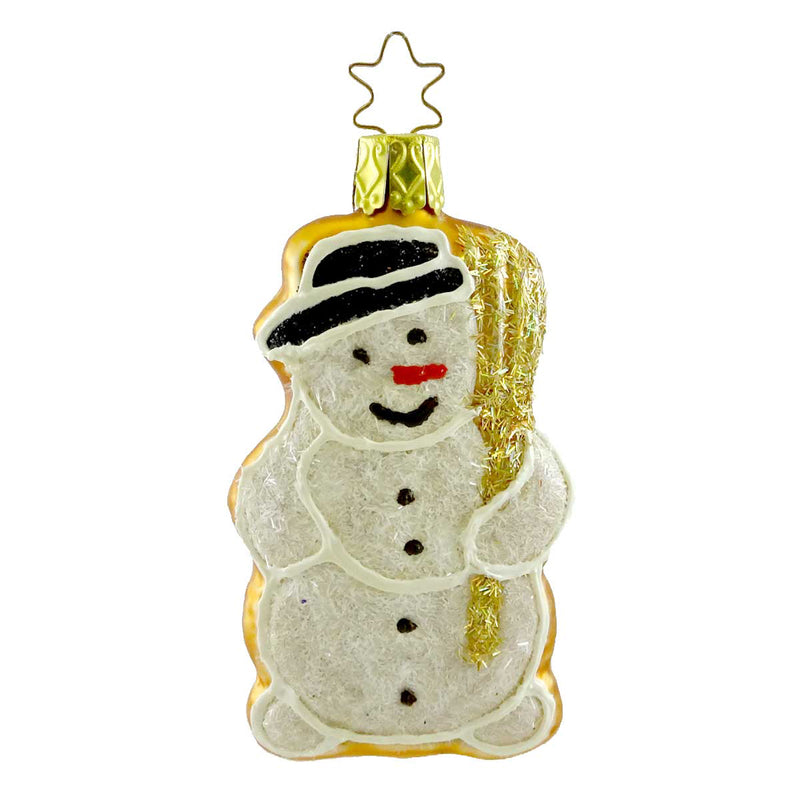 Inge Glas Snowman Cookie Glass Ornament