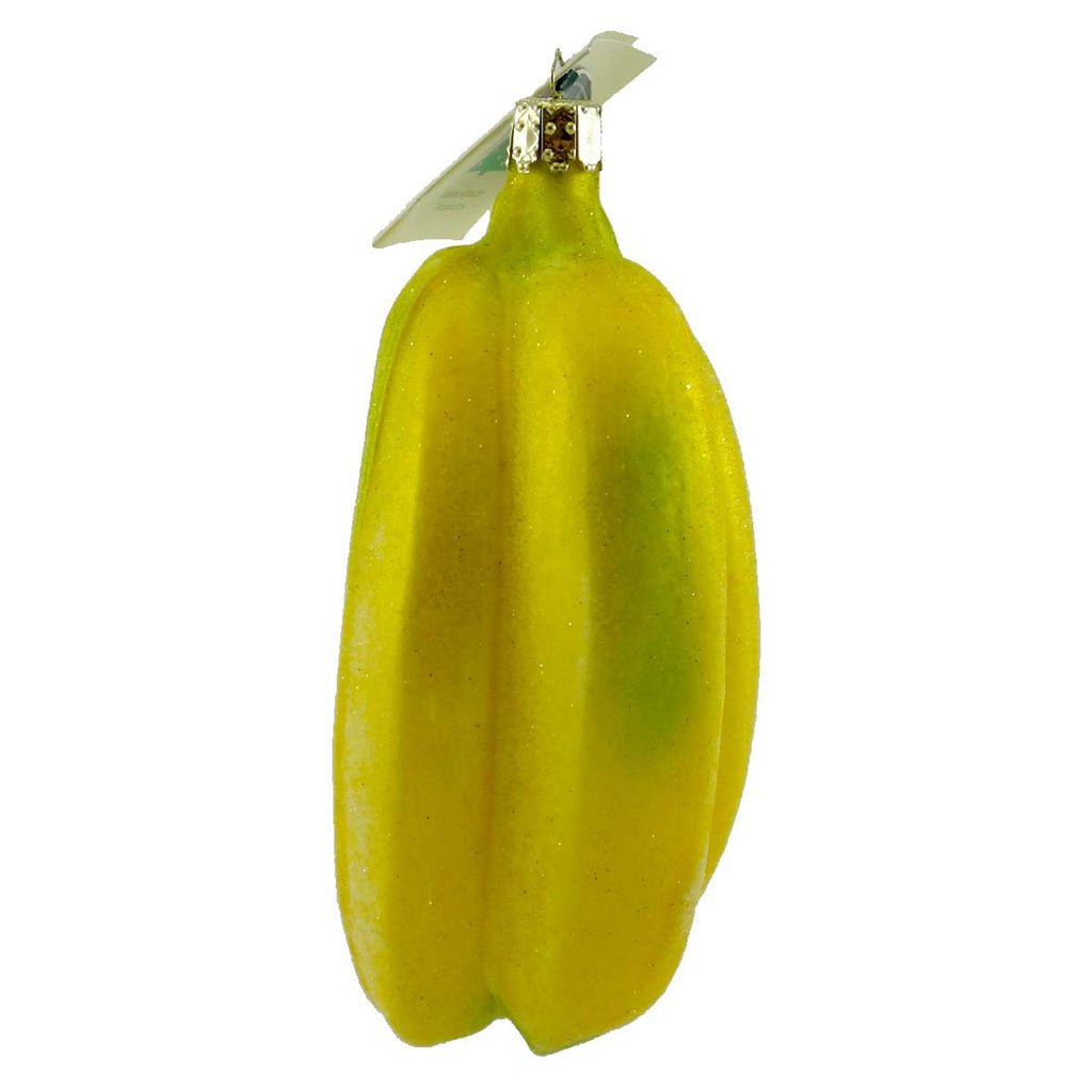 Tannenbaum Treasures Banana Bunch Glass Ornament