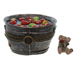 Boyds Bears Resin GRANNY SMITH'S APPLE BOBBIN B Halloween Treasure Box 4022271