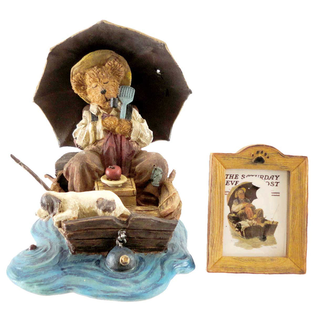 Boyds Bears Resin Gone Fishing Figurine