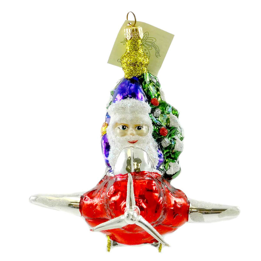 Larry Fraga Short Hop Glass Ornament