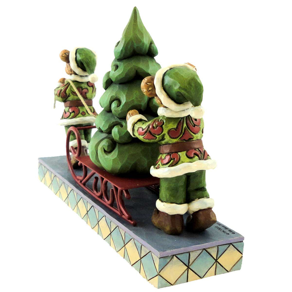 Boyds Bears Resin Jingle & Jangle Oh Christmas Christmas Figurine