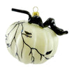 Ornaments To Remember Harvest Pumpkin Ivory Halloween Glass Ornament
