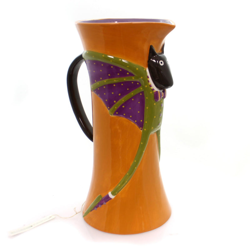 Halloween CAT BAT PITCHER Ceramic Ceramic Patience Brewster 830607