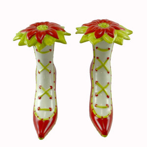 Christmas High Heel Salt & Pepper Set Of Christmas Tabletop
