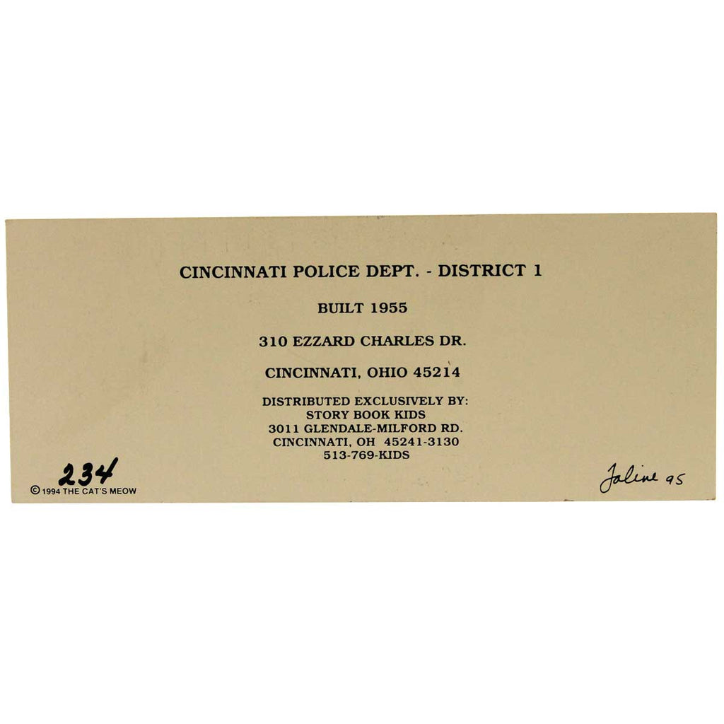 Cats Meow Cincinnati Police Dept District 1 Keepsake