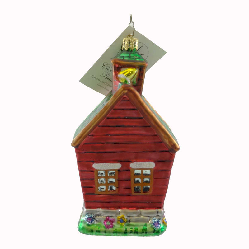 Christopher Radko Operation School Bell Glass Ornament