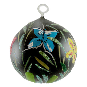 Christina's World Bevy Of Butterflies Ltd Glass Ornament