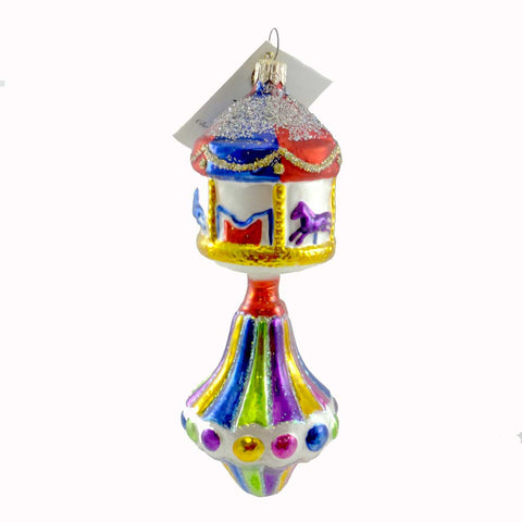 Christopher Radko Carousel Top Glass Ornament 1478