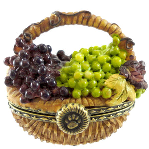 Boyds Bears Resin Concorde's Grape Basket Treasure Box