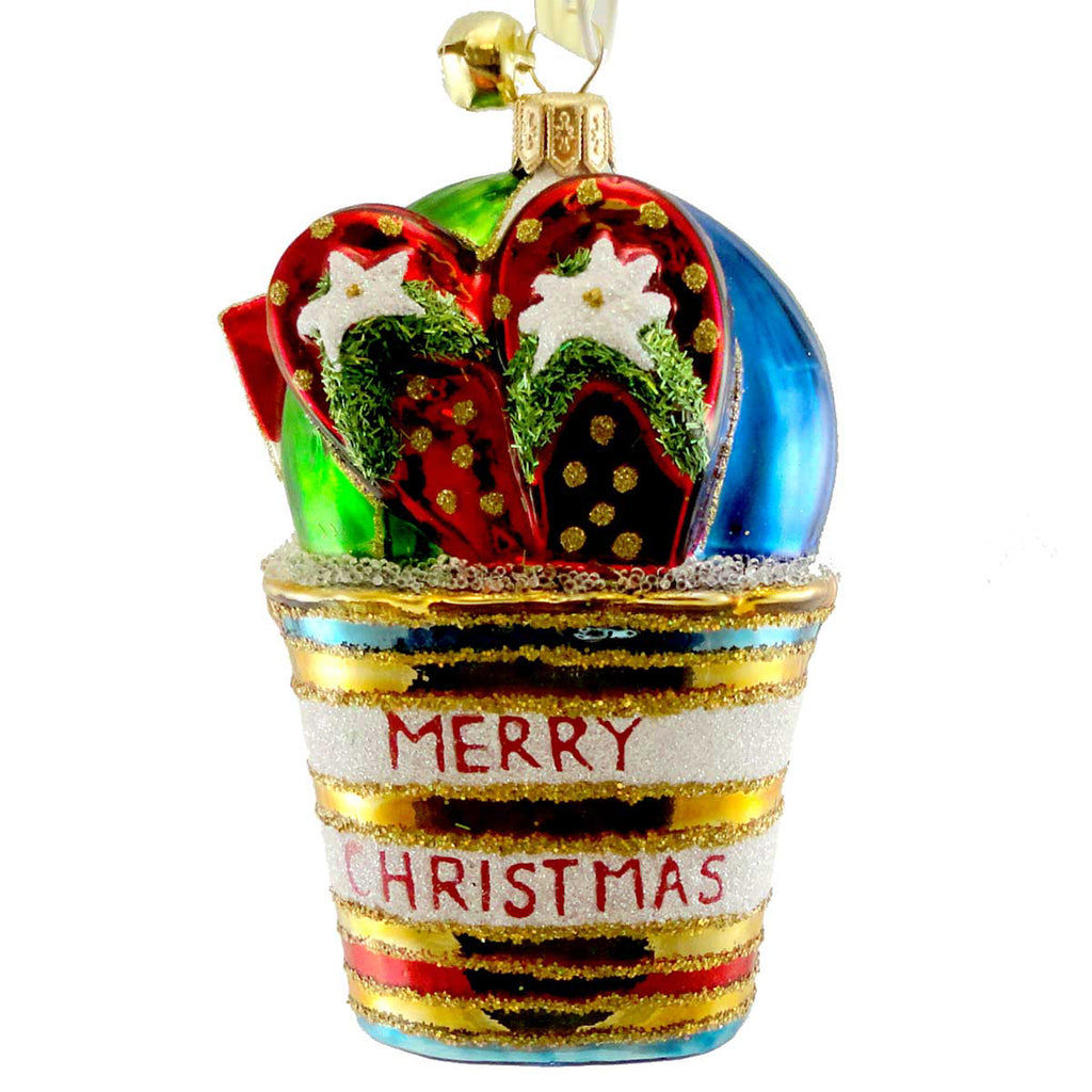 Jinglenog Sun Days Glass Ornament