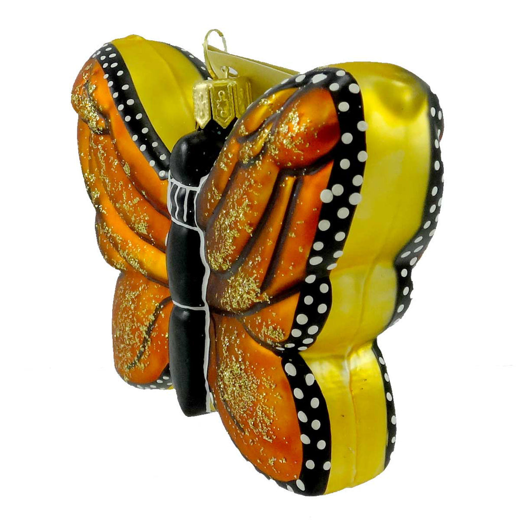 Tannenbaum Treasures Monarch Butterfly Glass Ornament