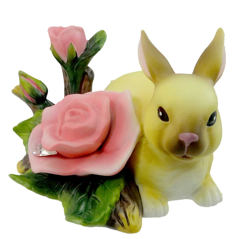 Easter Bunny With Rose Easter & Spring Figurine
