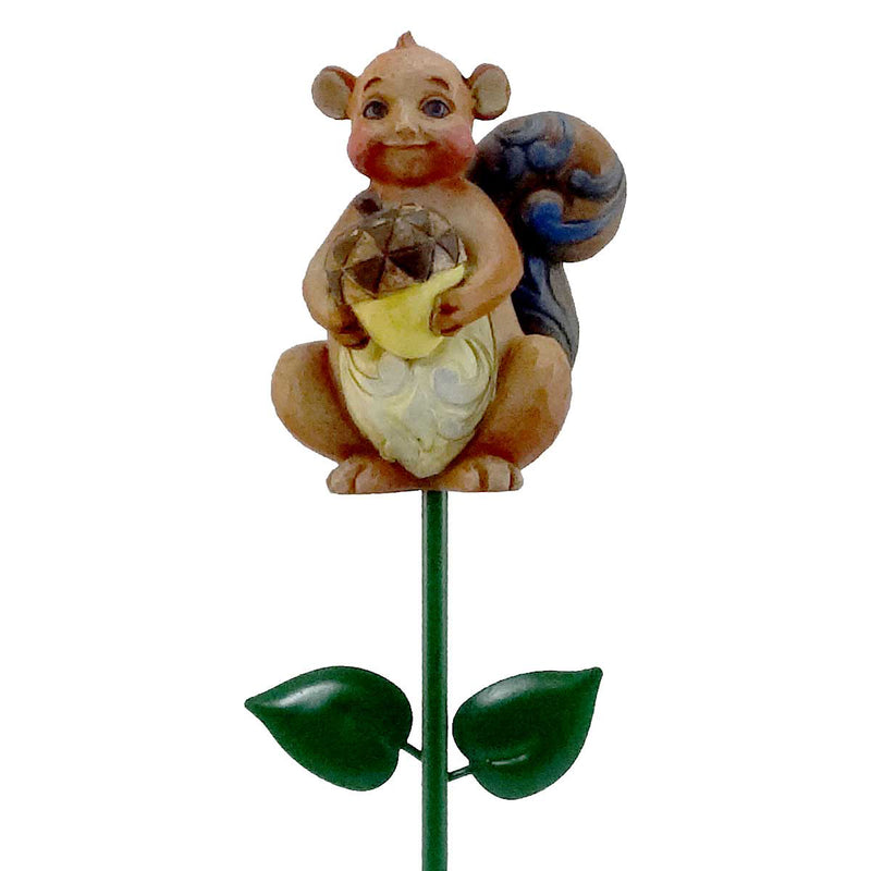 Jim Shore Squirrel Plant Stick Outdoor Decor