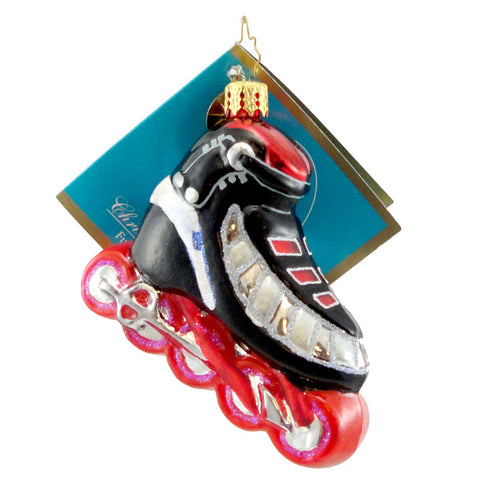 Christopher Radko Blade Racer Glass Ornament 1595