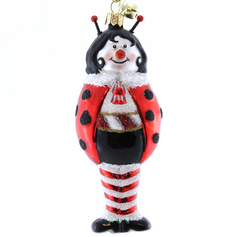 Jinglenog LADY B. GOODE Blown Glass Ornament Lady Bug 80161 15980