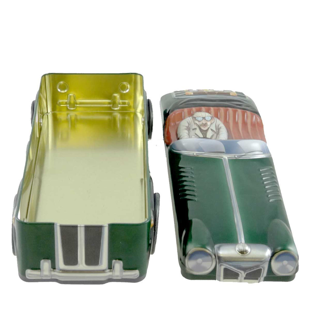 Tins Tin Green Sports Car Storage Box
