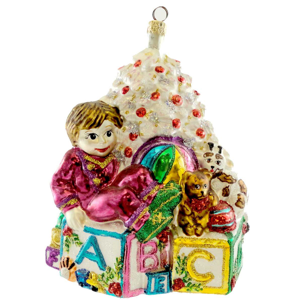 Larry Fraga Toy Box Glass Ornament