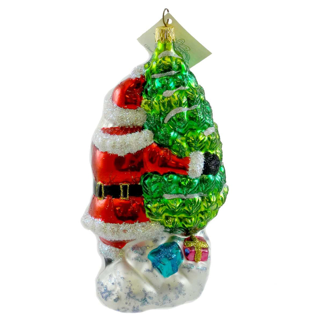 Larry Fraga Christmas Tree Glass Ornament