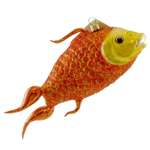 Larry Fraga Golden Lust Glass Ornament 16259