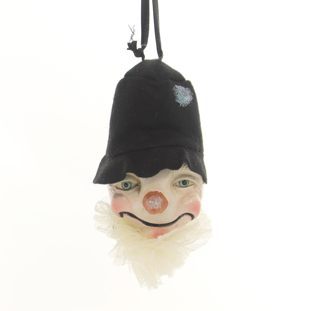 Christmas Top Hat Snowman Head Ornament Resin Ornament