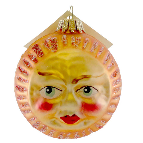 Larry Fraga Sun Face Glass Ornament 16541