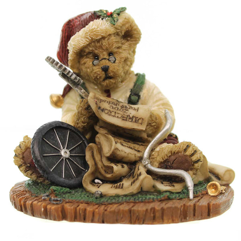 Boyds Bears Resin Klaus Frazzlebeary Up All Night Figurine