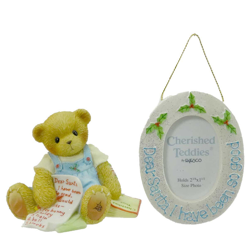 Cherished Teddies Dear Santa I Have Been So Good Frame