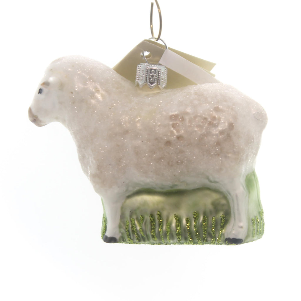 Tannenbaum Treasures Sheep Glass Ornament