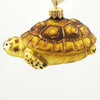 Tannenbaum Treasures Yellow/Brown Turtle Glass Ornament