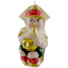 Larry Fraga Leprechaun Glass Ornament