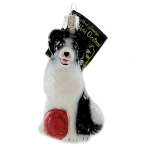 Old World Christmas Border Collie Glass Ornament