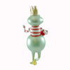 De Carlini Frog With Stripped T-Shirt Glass Ornament