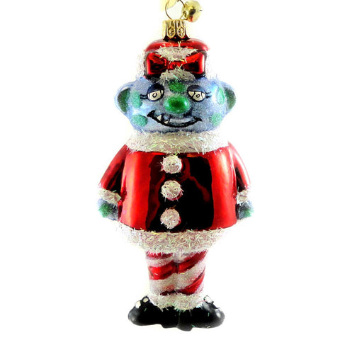 Jinglenog GOOGLIE GAL Blown Glass Ornament Christmas Monster 80115 17335