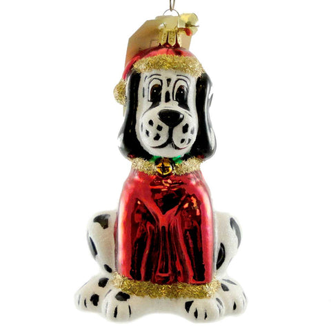 Jinglenog SPOT Blown Glass Ornament Christmas Dalmation 80227 17347